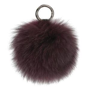 Cosy-Concept-Fur-Fox-Keyring-Pompom-Burgundy-400-dkk